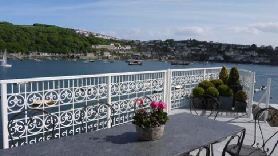 Fowey Residences: The terrace overlooking the estuary.