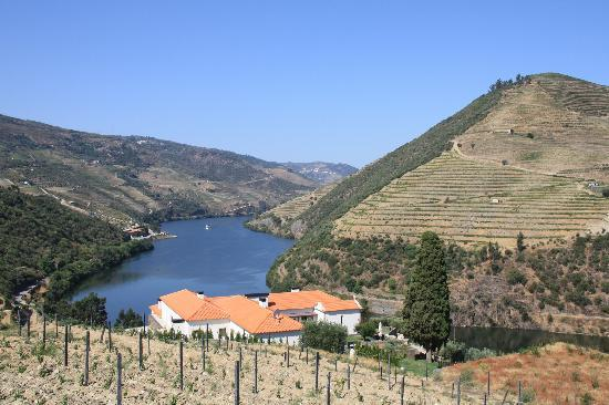 Quinta do Pego : View down river from behind Hotel