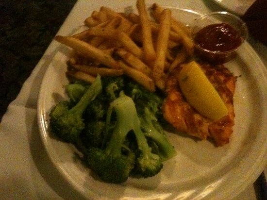 The Red Blazer Restaurant and Pub: My son's salmon