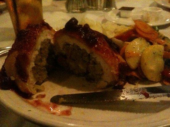 The Red Blazer Restaurant and Pub: pastry chicken interior