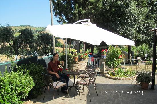 Tavullia, Italy: in the garden