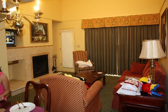 The Historic Powhatan Resort: 1 bedroom condo, first floor unit 72A (living room)