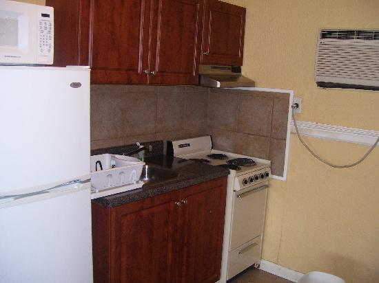 Hurl Rock Motel: kitchen in efficiency