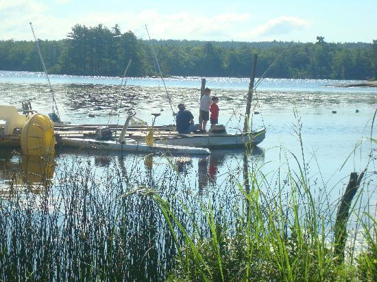 Damariscotta, ME: fishing with my sons