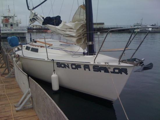 Monterey Bay Sailing: The boat