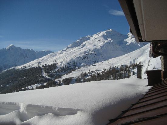 Hotel Alpenfriede: uitzicht vanaf ons balkon