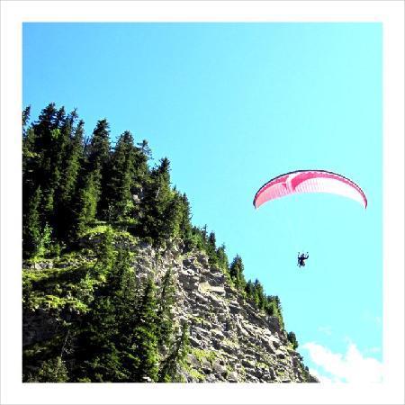 Treeline Chalets - Chalet Plan des Pierrys : Paragliding
