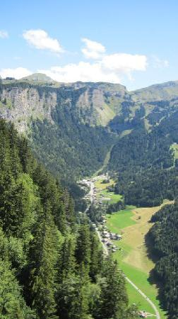 Treeline Chalets - Chalet Plan des Pierrys: Views from the top of the Mountain Bike trail