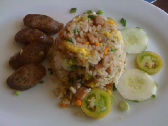 Shenanigans : Fried rice and sausage