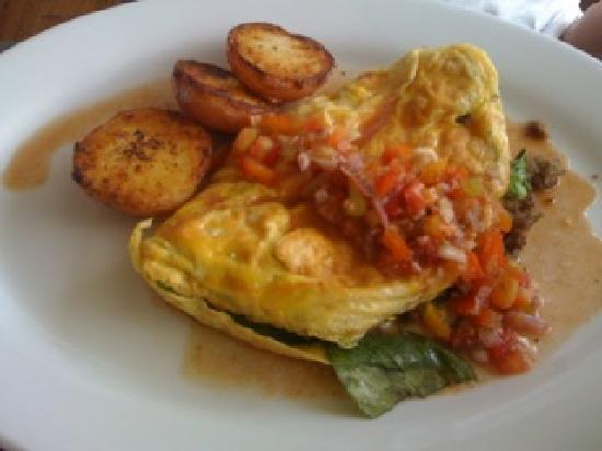 Shenanigans : Sausage omelet with potatoes