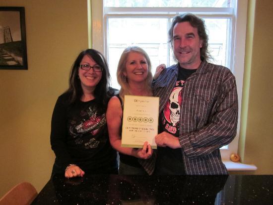 Glastonbury Properties - Hillside : Anna & Simon - certificate of excellence Aug2011
