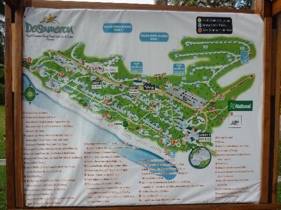 Royal Decameron Beach Resort, Golf & Casino : Mapa del hotel, para que no se dejen engañar con las ubicaciones