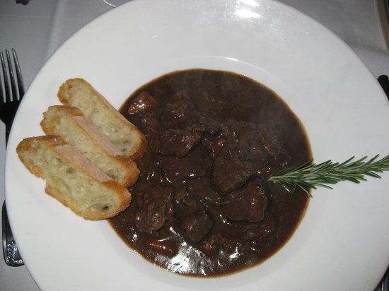 Bistro 17: Beef bourguignon.