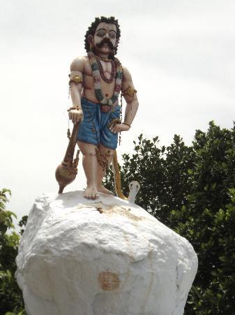 Tamil Nadu, Indien: Statue near the temple