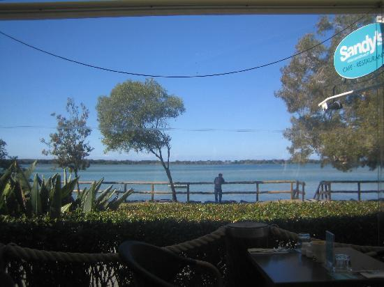 The Moorings Cafe on Golden Beach: View from our table