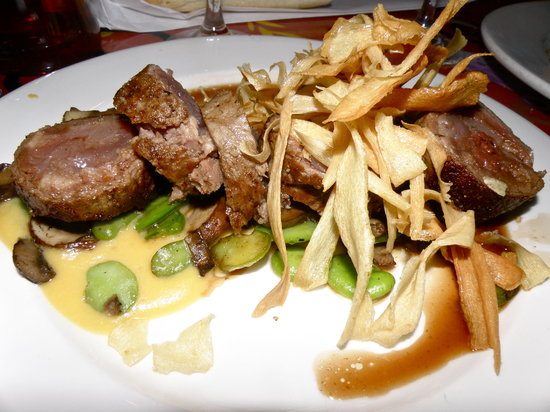 Red Fish Grill: Yellowfin Tuna wrapped in Beef Tenderloin