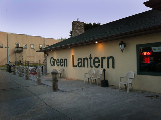 The new re-built front of The Green Lantern Steakhouse and Lounge