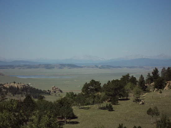Lake George, CO: view of wilkerson pass