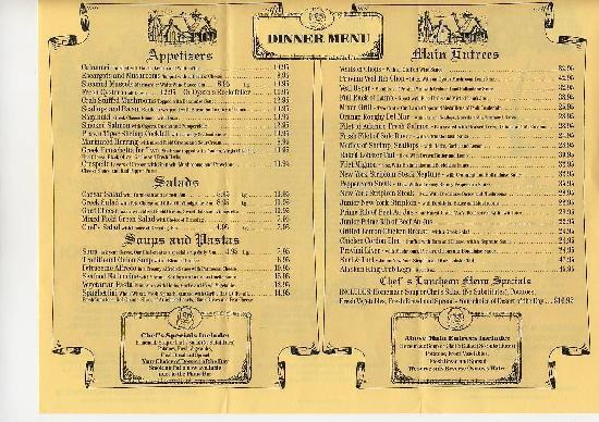 le détail du menu - Picture of The Olde School Restaurant ...