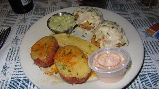 Taste Of New Orleans: Compare the size of these crabcakes to the sauce cup!