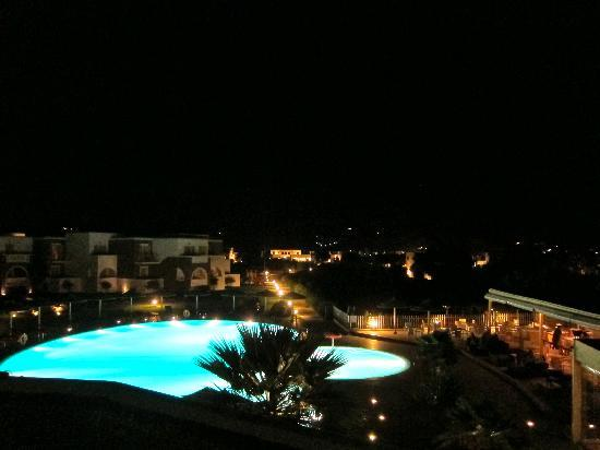 Aegean Land: Aegean Palace pool at night