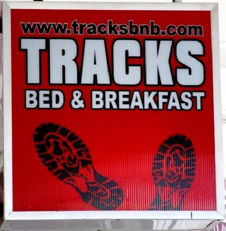 Tracks Bed & Breadfast: The sign..