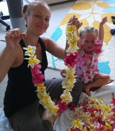 Bhakti Yoga Shack: Making Leis for Kirtan