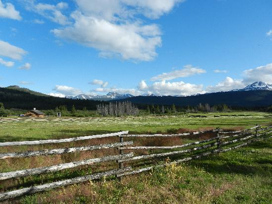 Elkin Creek Guest Ranch: the view from our porch