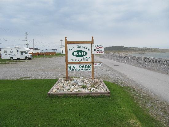Cow Head, Canada: Front sign