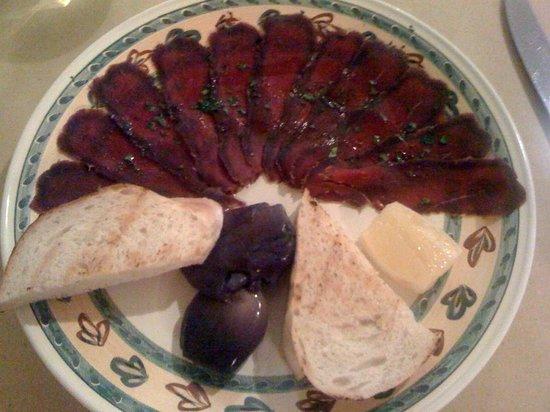 AIdente Trattoria E Vineria : carne salada di cervo