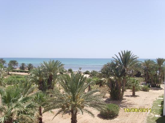 Hotel Golf Beach: Vue du balcon de notre chambre
