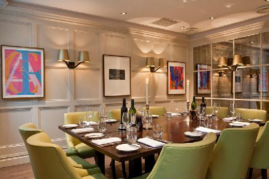 Our private dining room grubb street picture of chiswell for Best private dining rooms uk