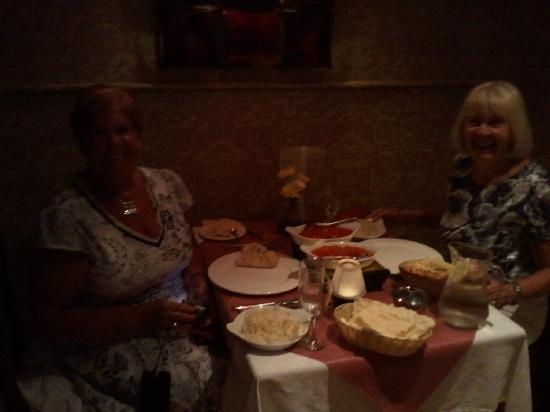 Trim Tandoori: two local Lady enjoing there dinner in a lovely eve.