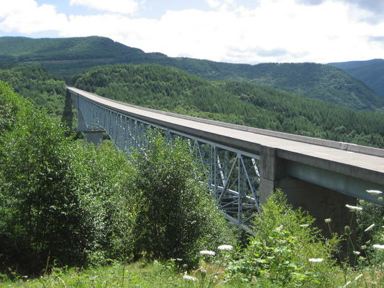 Spirit Lake Memorial Highway: One of the bridges that you'll cross. Beautiful scenery!