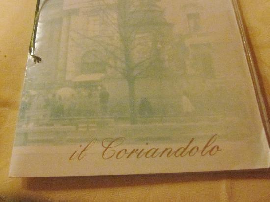 Il Coriandolo : menu