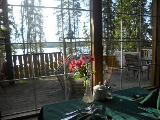 Land of the Loon Resort: View from Snails Pace Dining Room