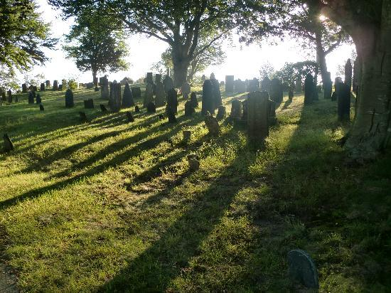 Plymouth, MA: the cemetery in the morning light