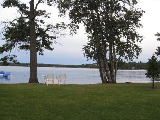 Madden's on Gull Lake: view from the lodge