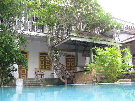 Nooit Gedacht Heritage Hotel: Beautiful pool under the Frangipani Trees