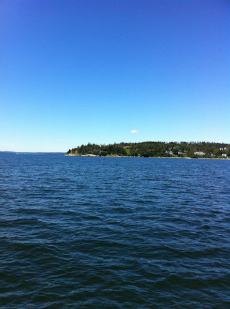 Guildive Cruises: View of Dyce's Head Light, Castine, Maine from the Guildive