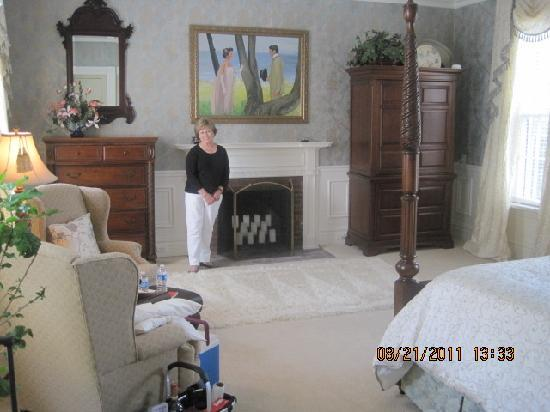 "A Storybook Inn: Nancy in one of the 4 rooms included in the ""A Place in Time"" suite."