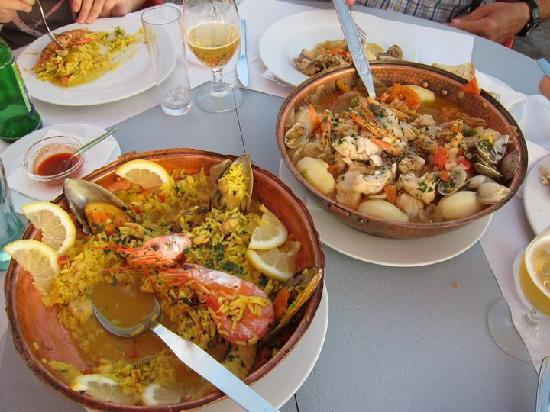 Alabote: Cataplana of cherne and paella