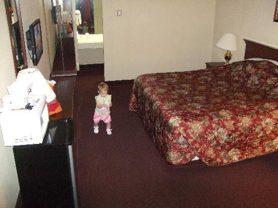 Days Inn East Stroudsburg: Clean good sized room. Note the design of the rooms with the part bathroom located in the actual