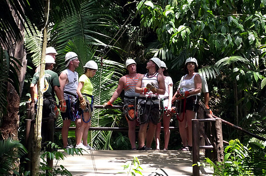 Challenge Travel and Tours: Friends from Houston TX - Cave Tubing & Zip Line ROCKS!!!