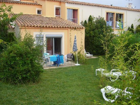 Hotel Helios : Notre chambre et son jardin privatif : que du bonheur !