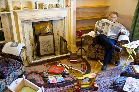 World of James Herriot: Alf Wight (as a manikin) enjoying the newspaper