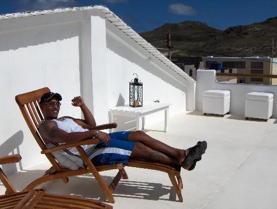 Villa Caracol: relax en la terraza