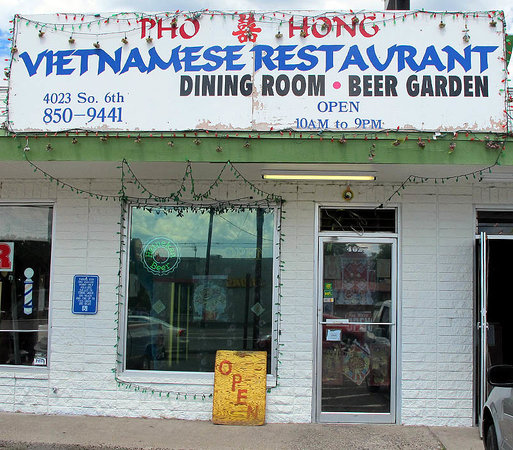 Pho Hoa & Hong : Don't be fooled by the rough exterior.  You will not regret walking through the door.