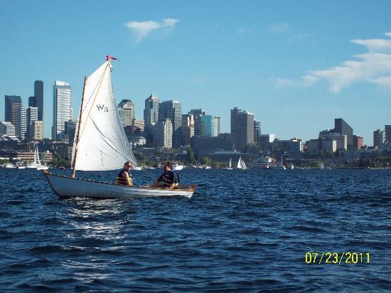 Ride the Ducks of Seattle: View while on Lake Union in a Duck