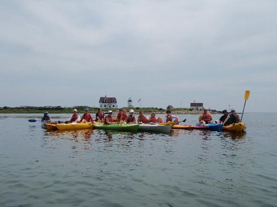 Kayak Excursions: Guided trip to Goat Island Lighthouse in Cape Porpoise